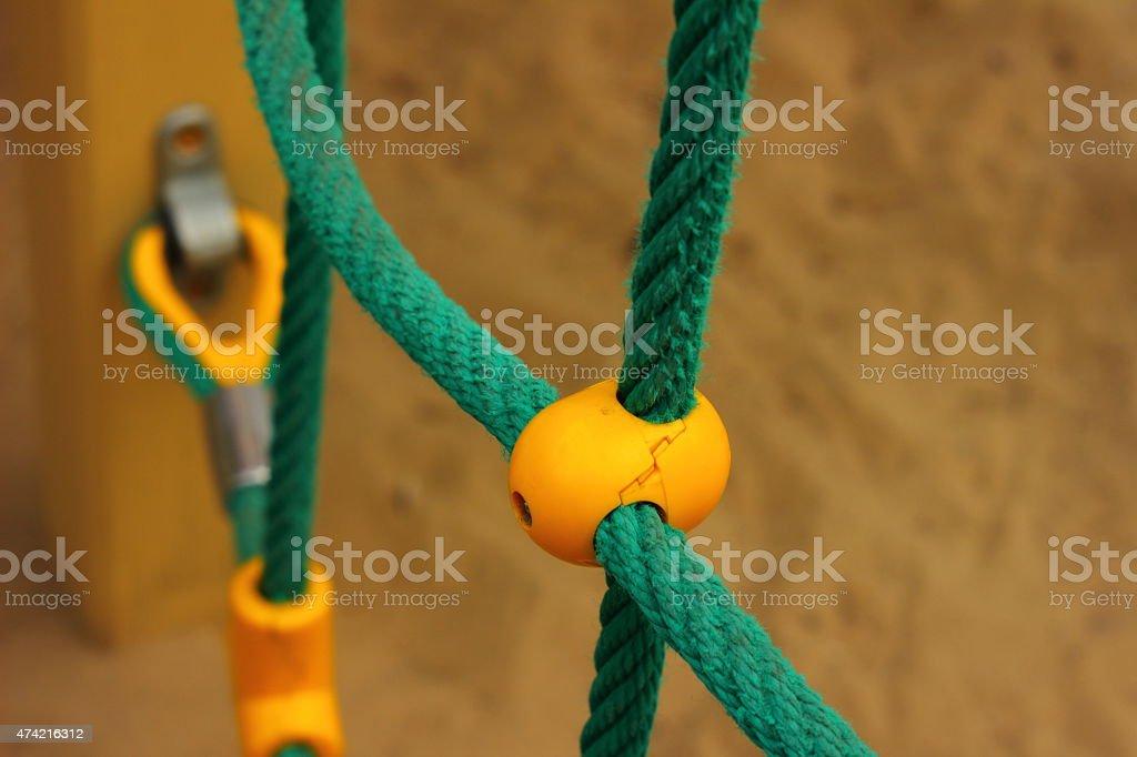 yellow plastic mount stock photo