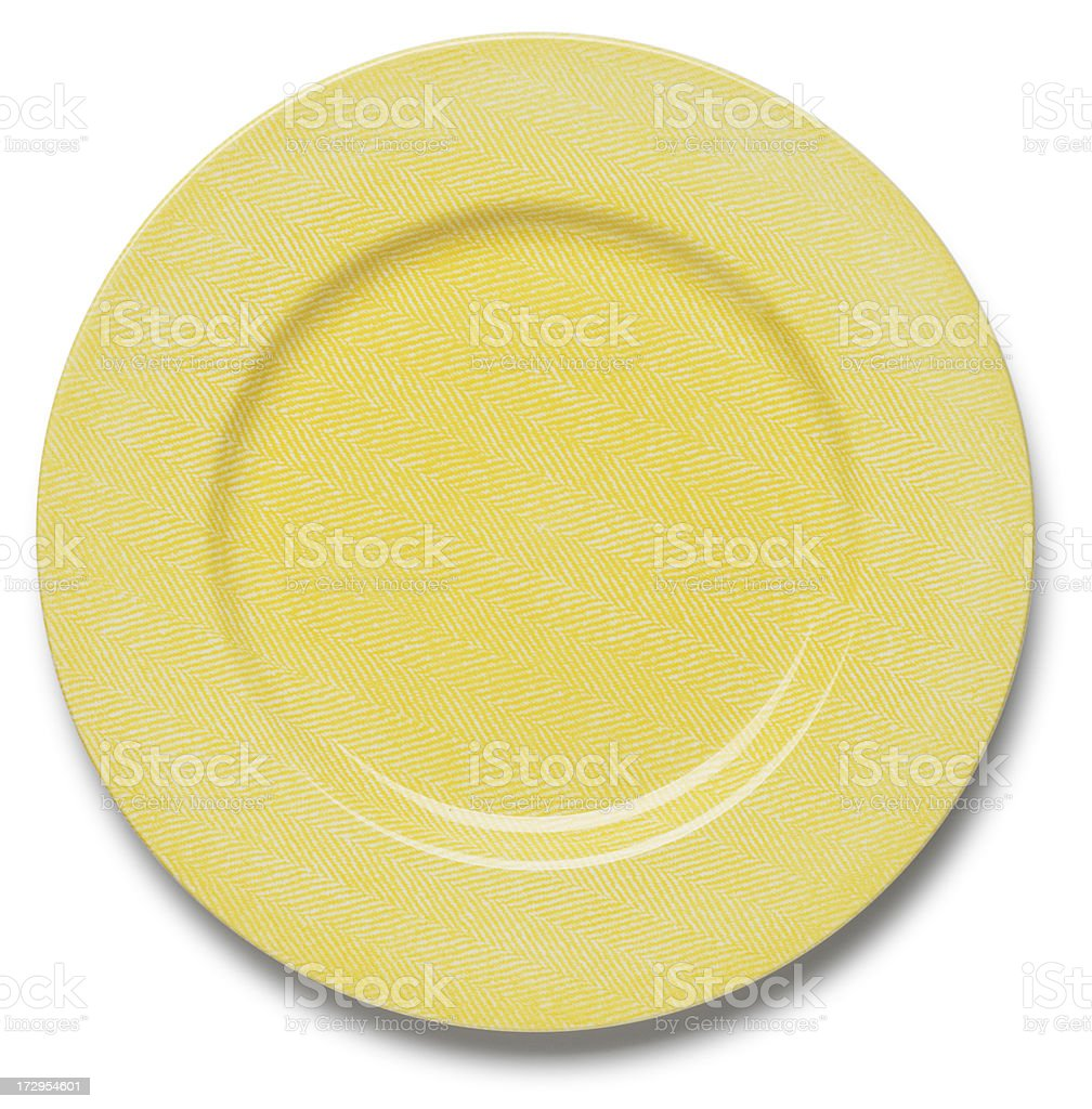 Yellow Plate stock photo