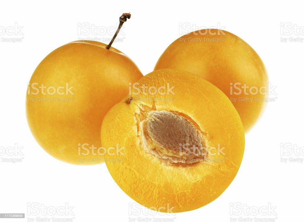 Yellow plum royalty-free stock photo