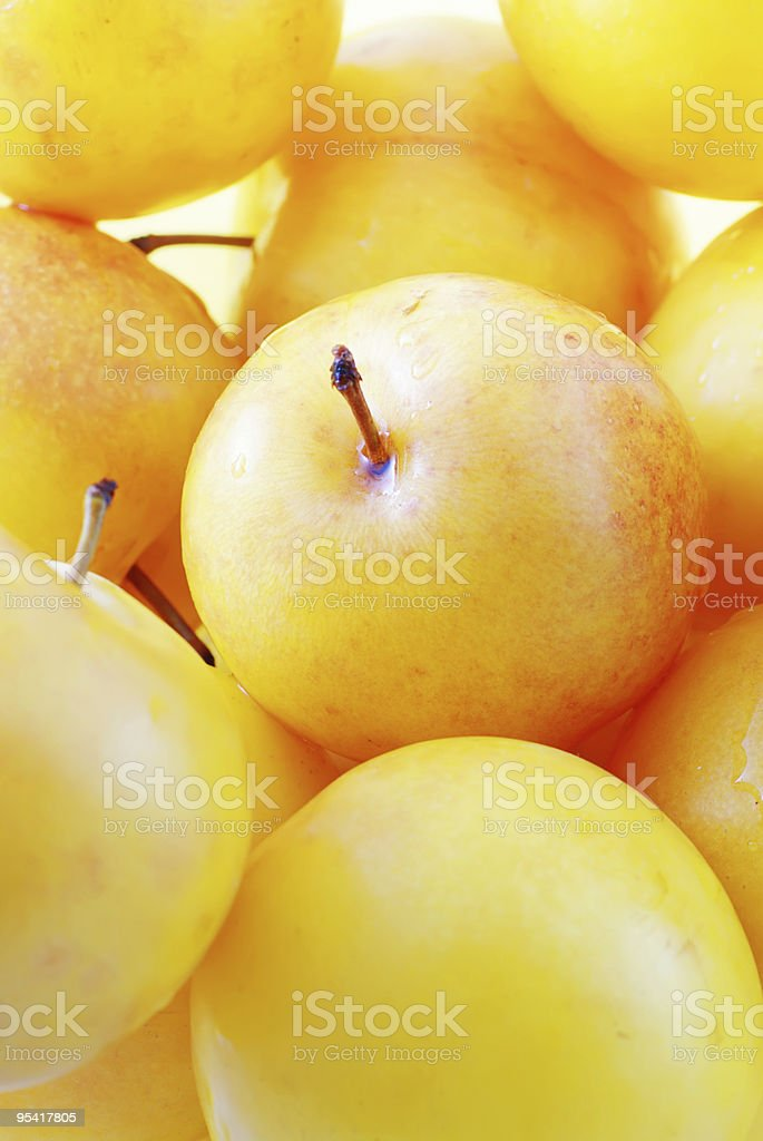 Yellow plums royalty-free stock photo