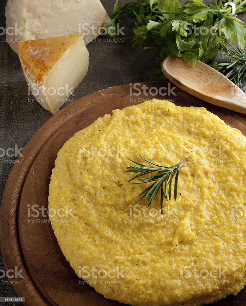 Yellow Polenta royalty-free stock photo