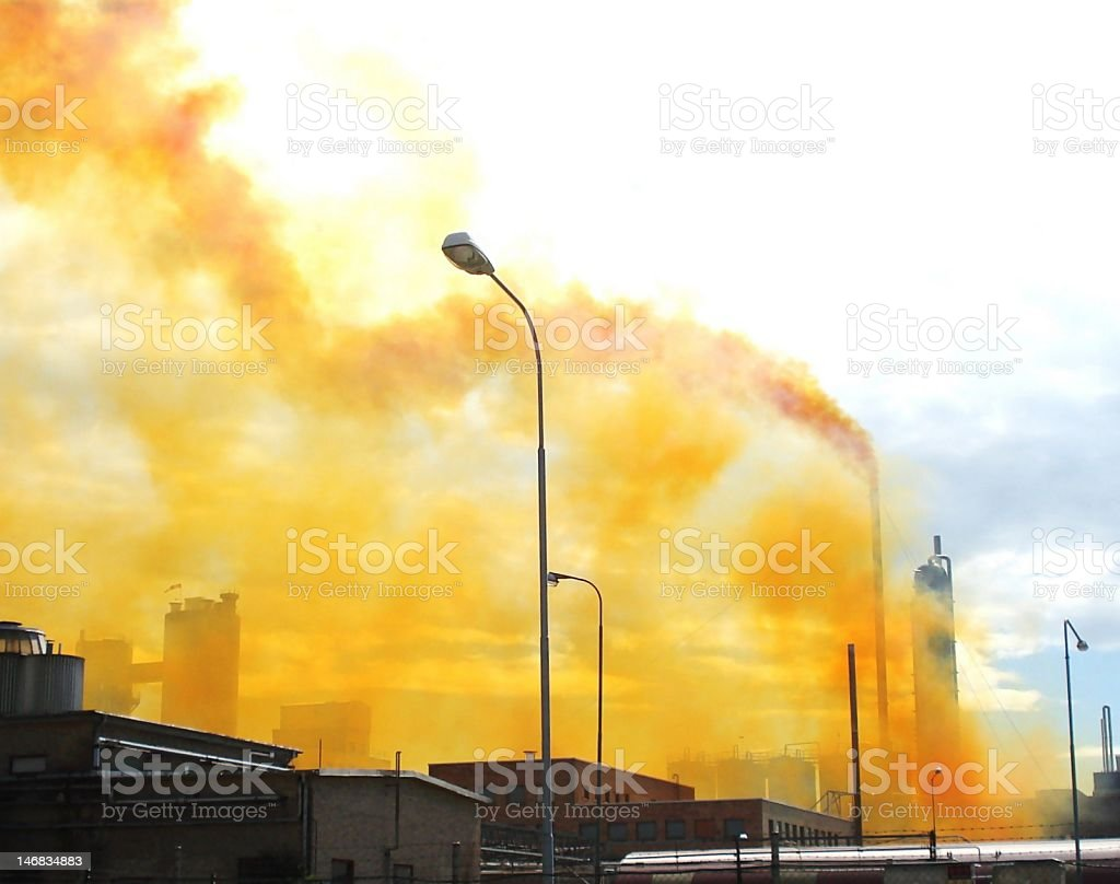 Yellow pollution royalty-free stock photo