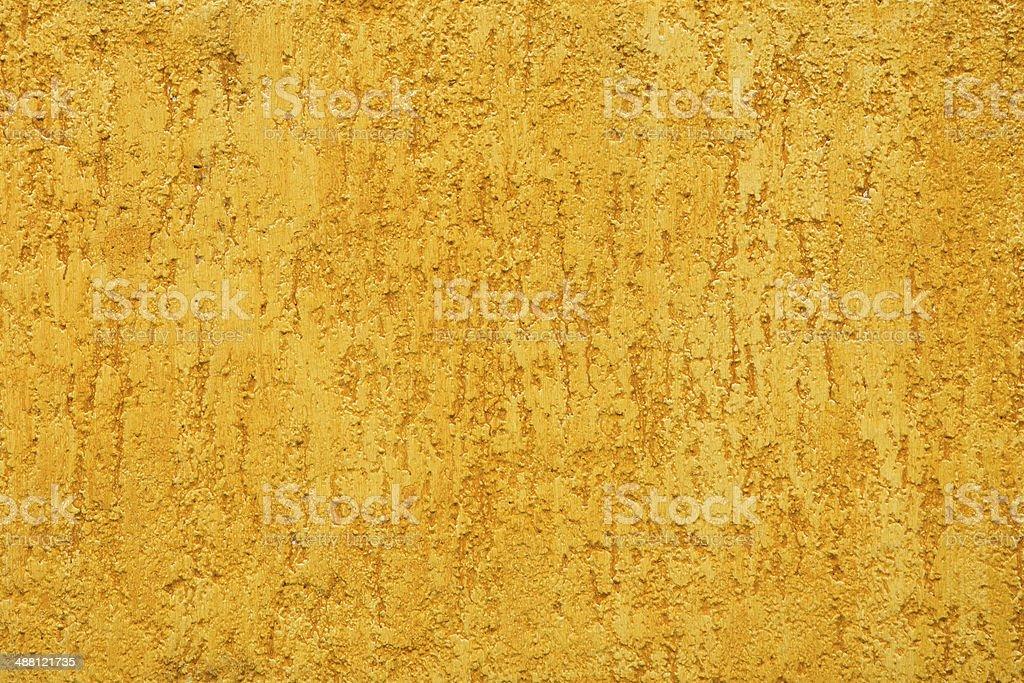 Yellow porous wall stock photo