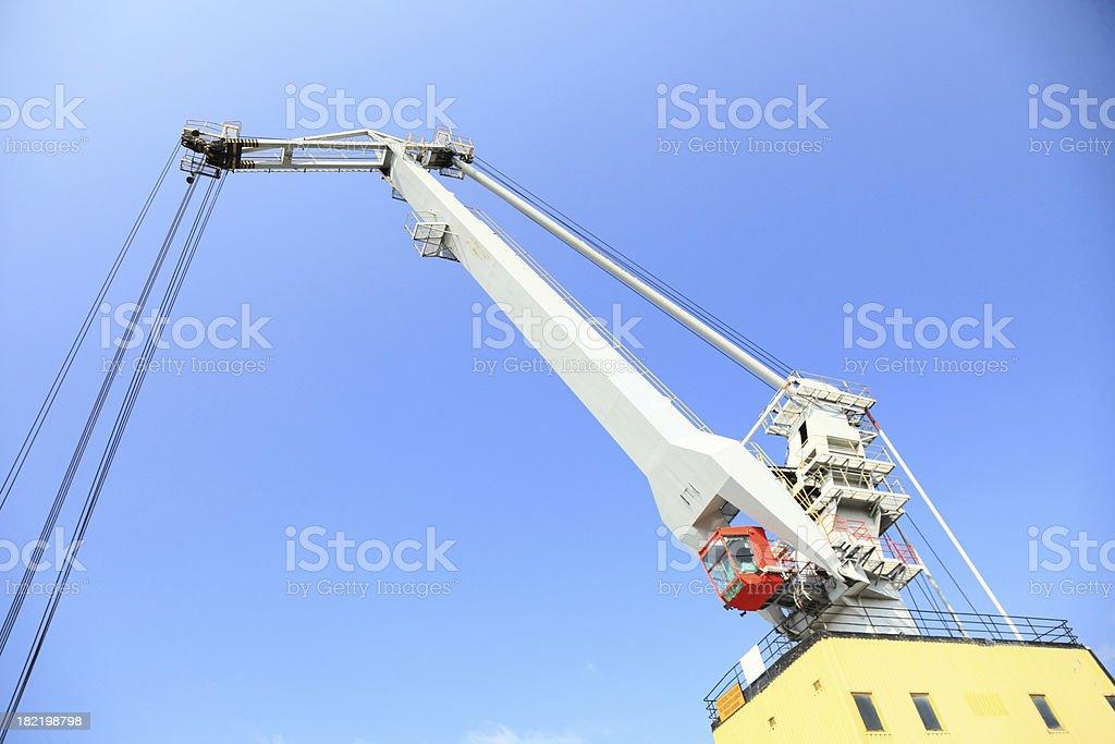 yellow port crane terminal seaport stock photo