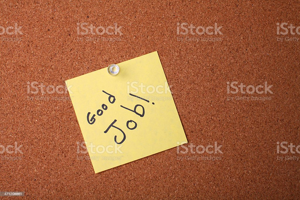 Yellow post it note royalty-free stock photo