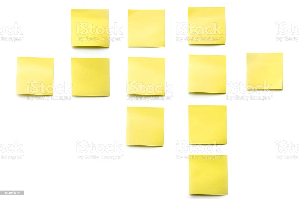 yellow post its royalty-free stock photo