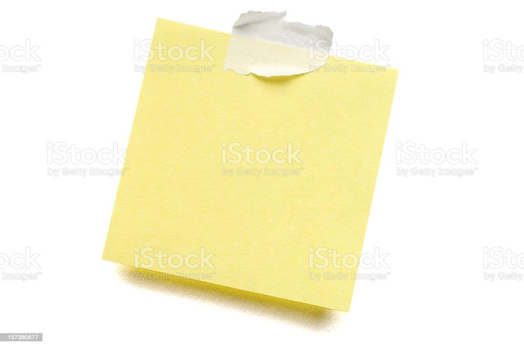 Yellow Postit Note on white stock photo