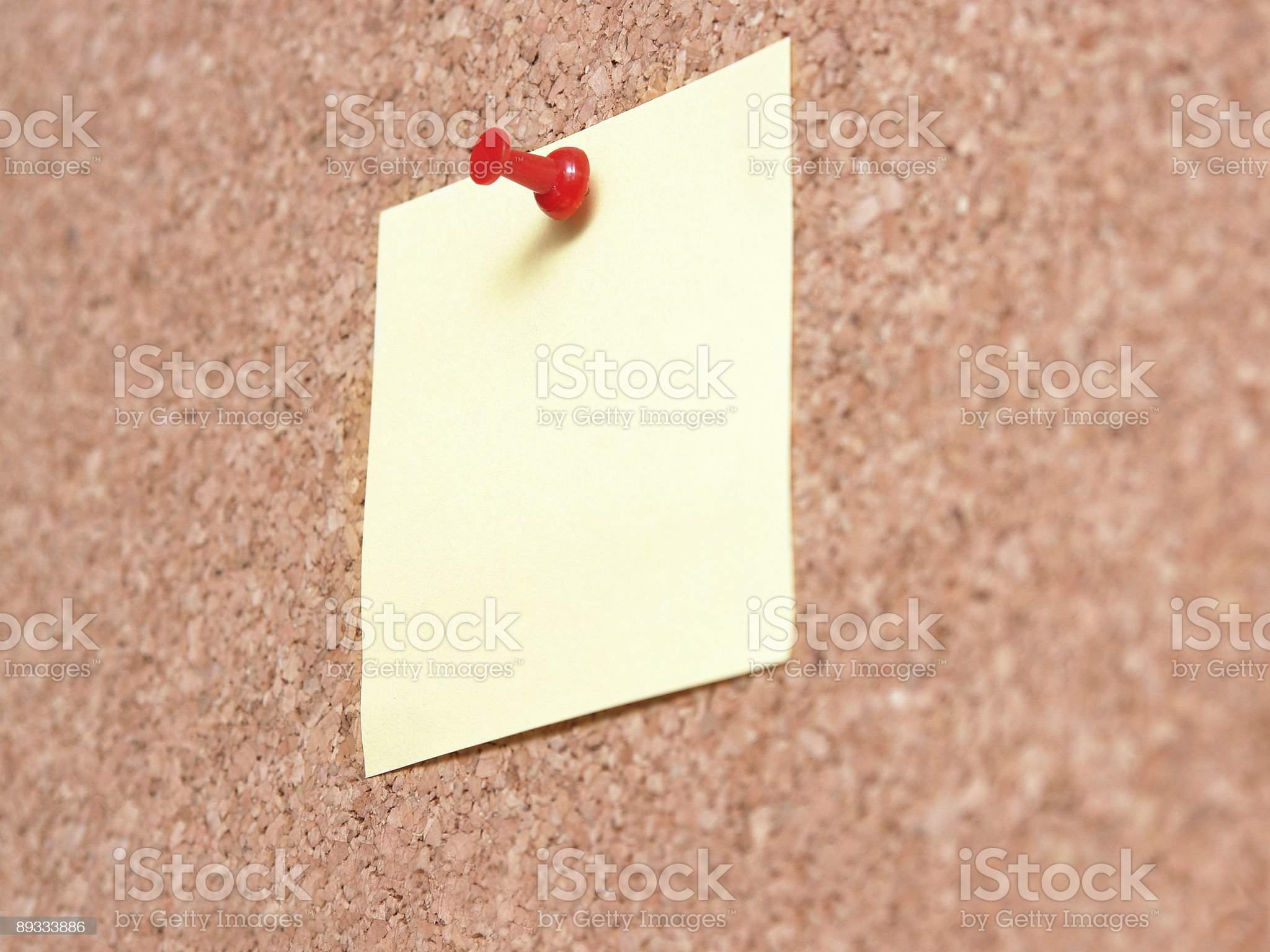 Yellow Post-it note royalty-free stock photo