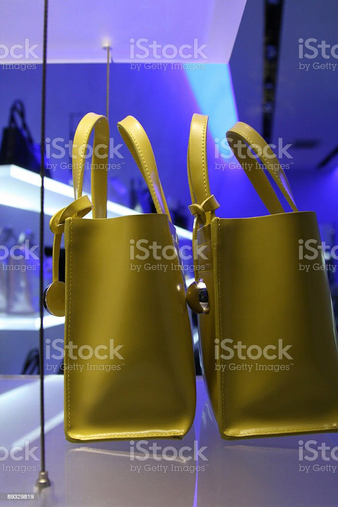 Yellow Purses royalty-free stock photo