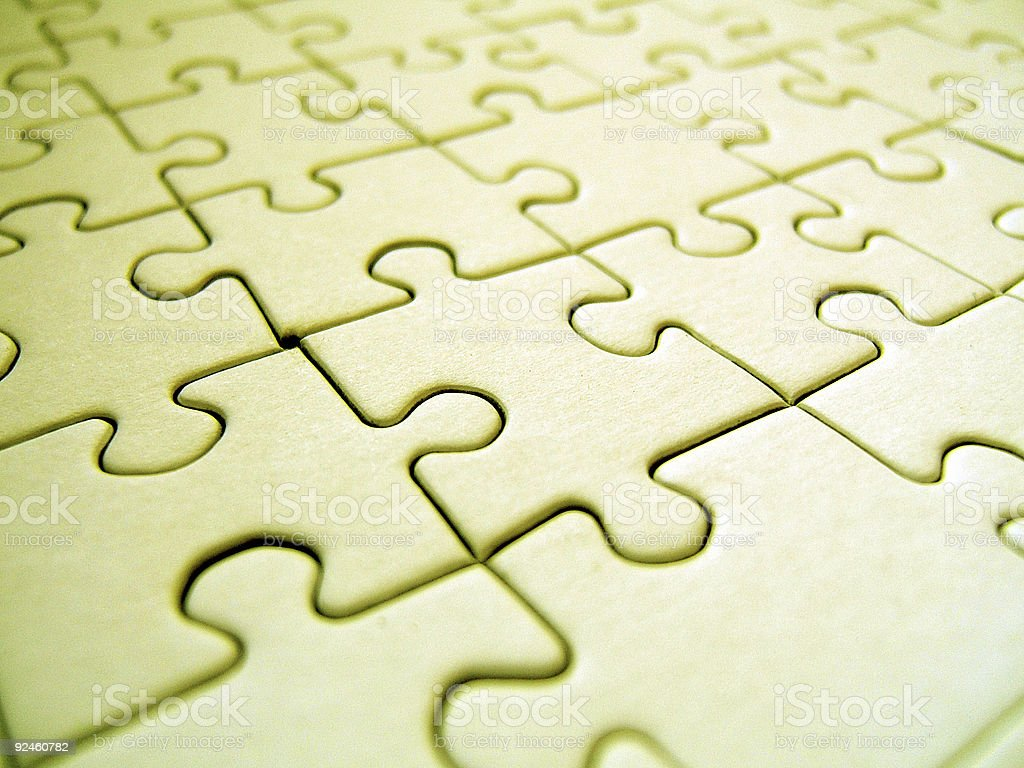 Yellow puzzle royalty-free stock photo