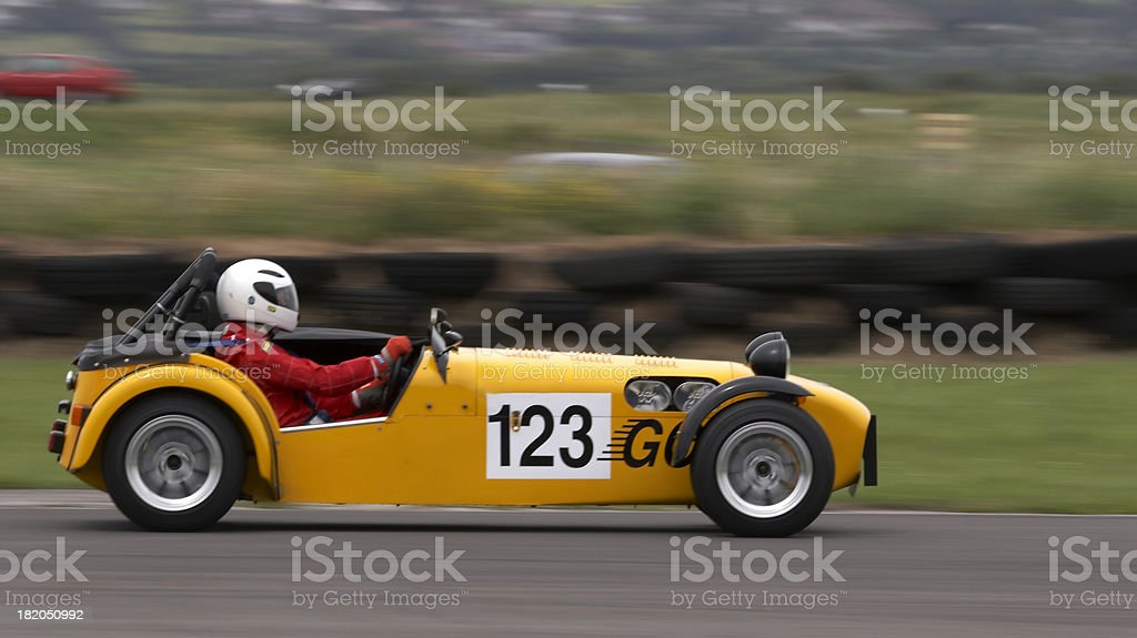 Yellow racer royalty-free stock photo