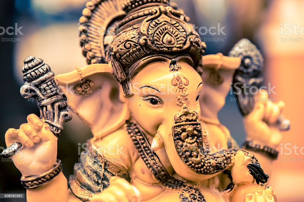 Yellow rasin Ganesh Elephant god stock photo