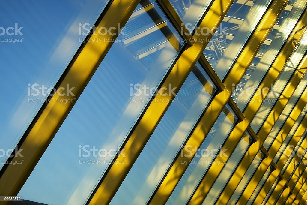 Yellow rays royalty-free stock photo