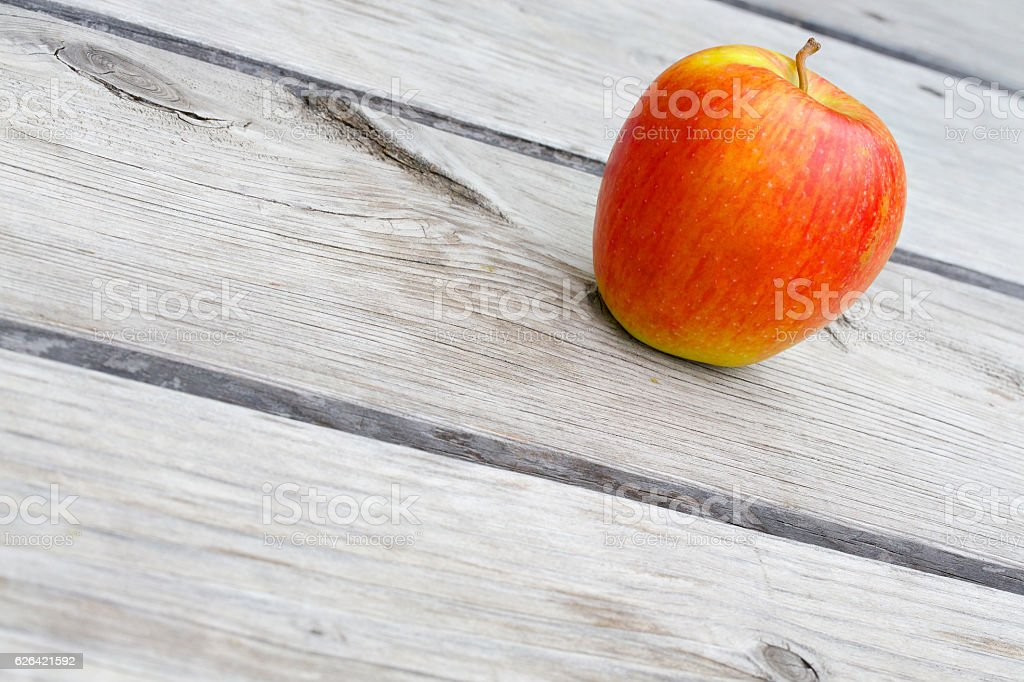 Yellow red apple stock photo
