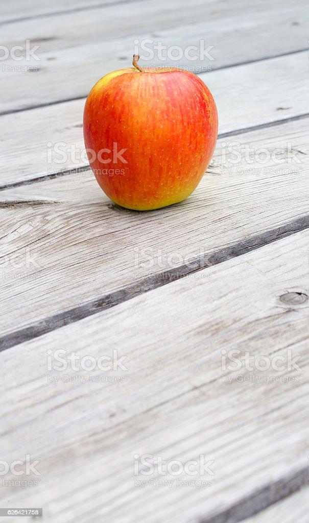 Yellow red apple stock photo