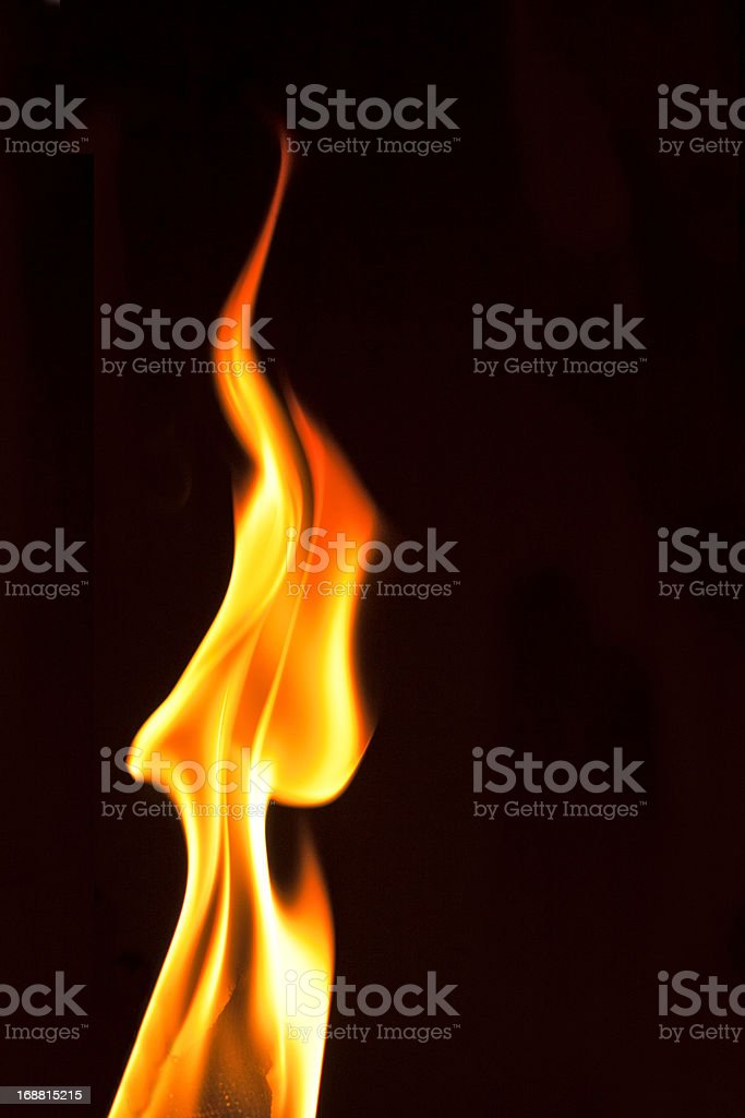 Yellow  red flames royalty-free stock photo