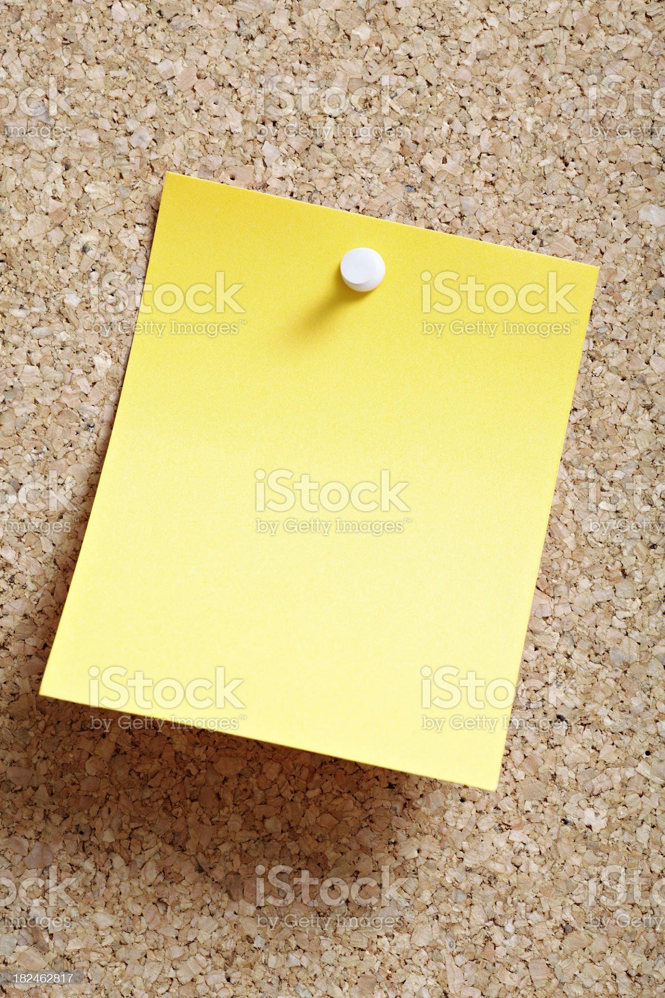 Yellow reminder royalty-free stock photo
