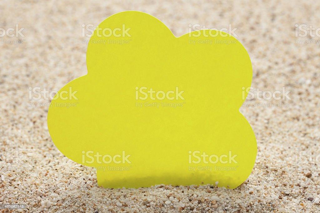 Yellow reminder stock photo