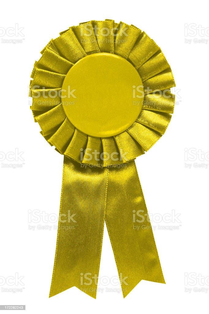 Yellow ribbon royalty-free stock photo
