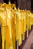Yellow ribbons with wishes