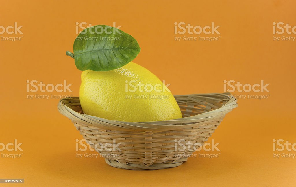 yellow ripe lemon royalty-free stock photo
