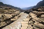 Yellow river at Hukou waterfall, Shaanxi, China