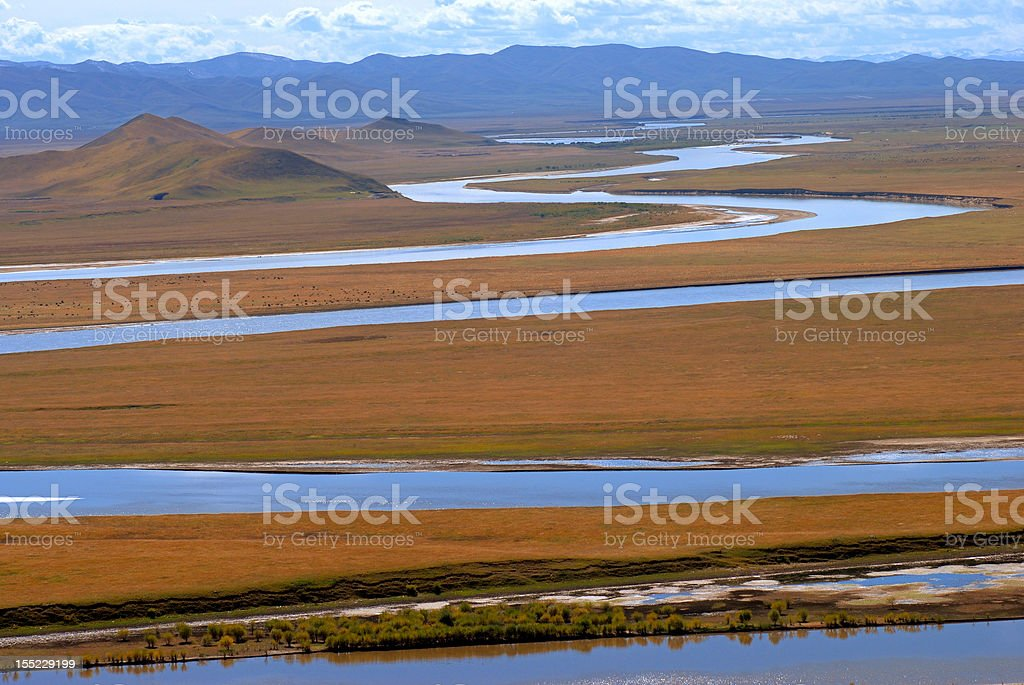 Yellow River royalty-free stock photo