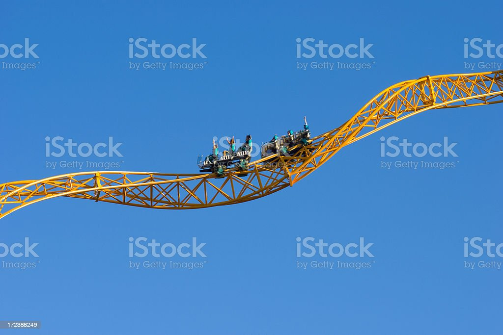 Yellow Rollercoaster 2 royalty-free stock photo