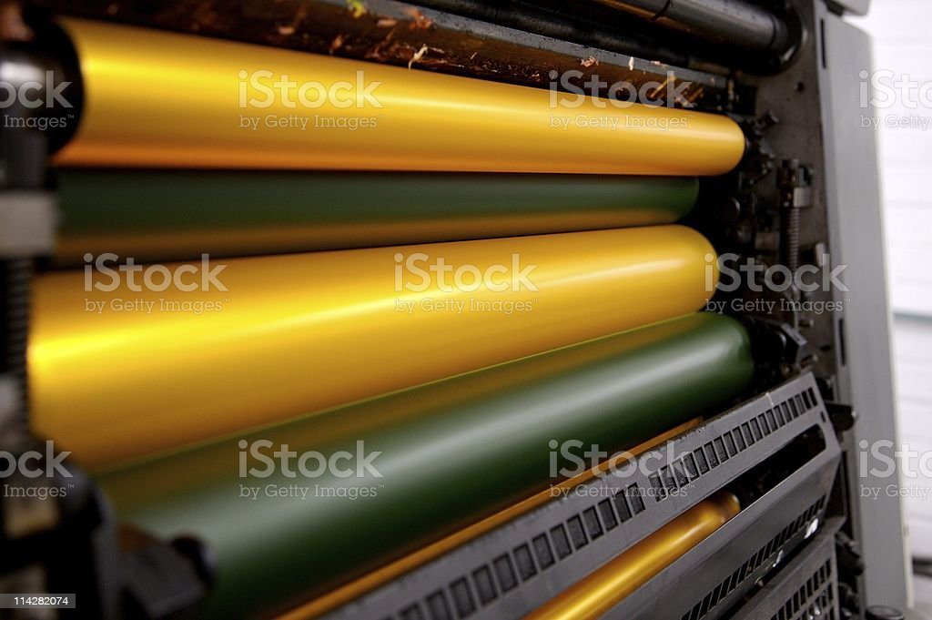 Yellow Rollers... royalty-free stock photo
