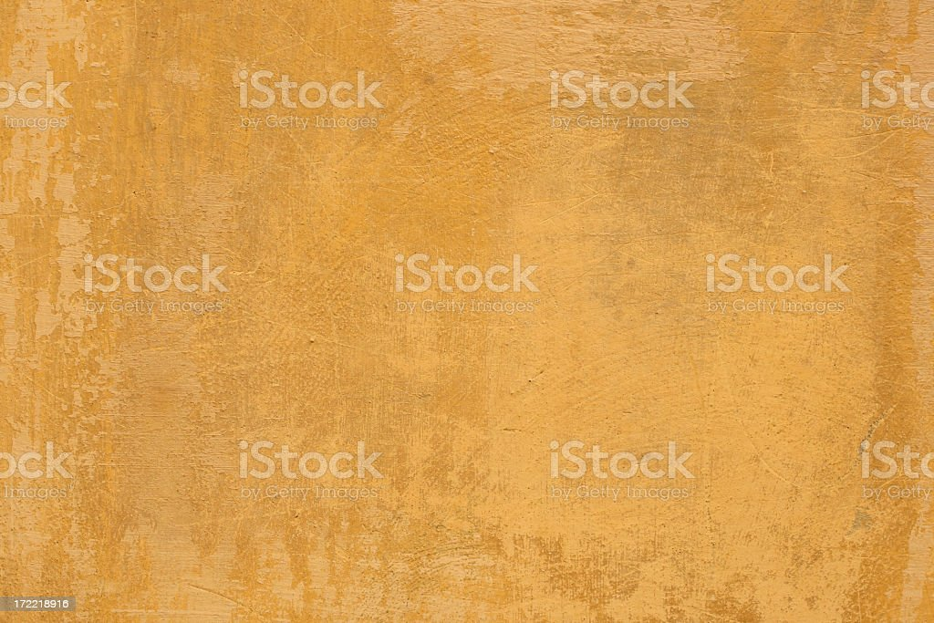 Yellow Roman grunge texturized wall background in Rome Italy royalty-free stock photo