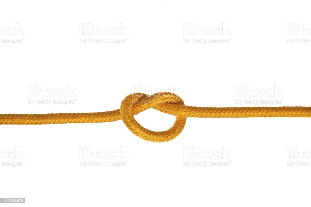 Yellow Rope with Knot royalty-free stock photo