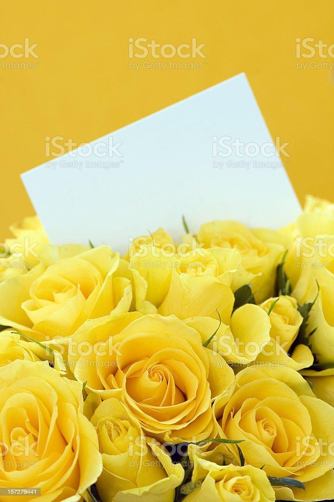 Yellow Roses Invitation royalty-free stock photo