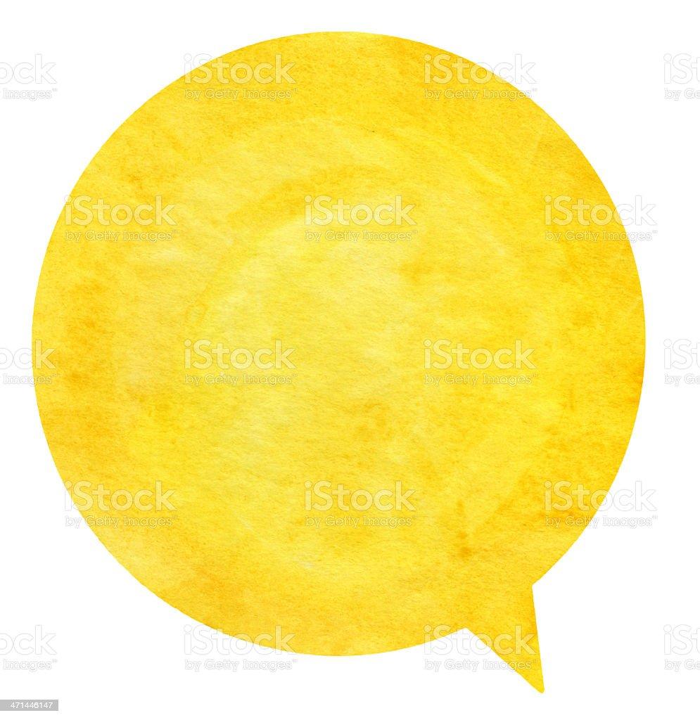Yellow Round Speech Bubble stock photo