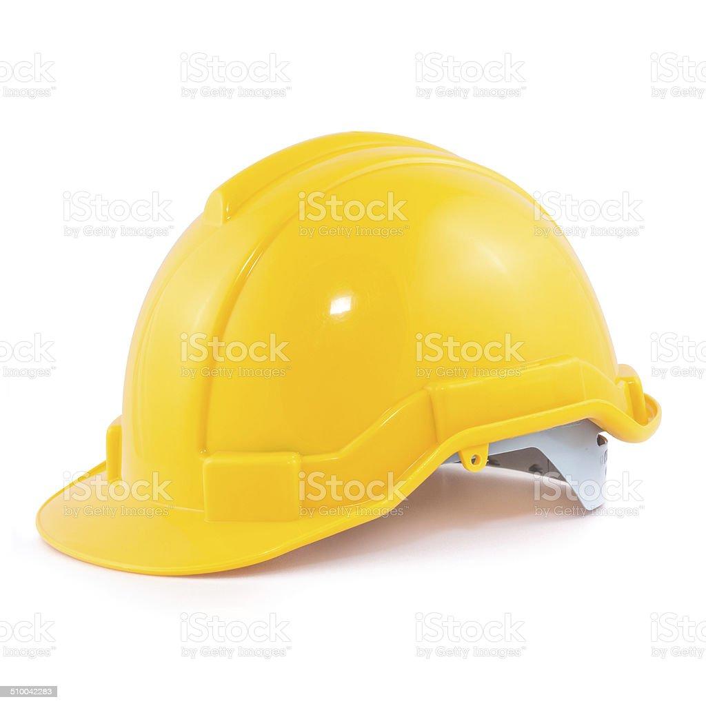Yellow safety helmet stock photo
