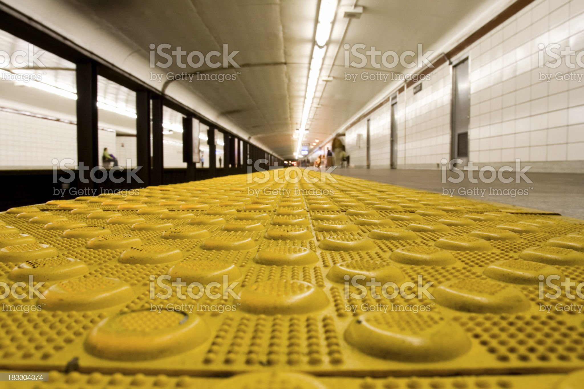 yellow safety line royalty-free stock photo