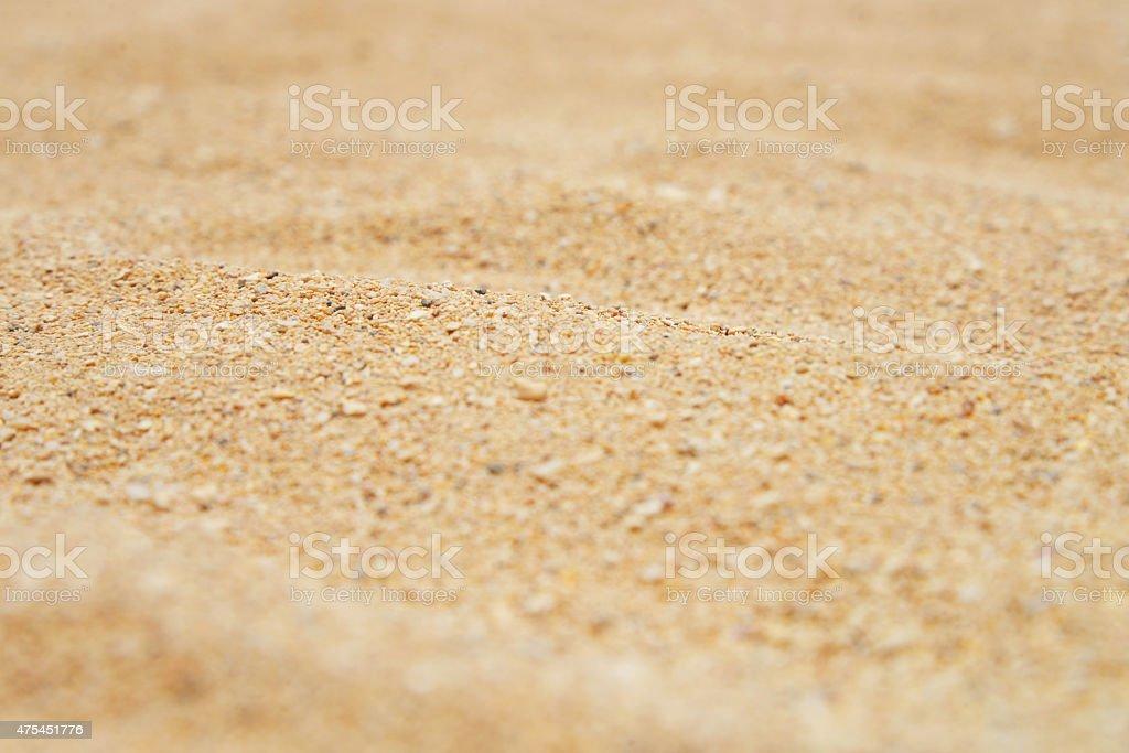 Yellow sand texture surface on beach stock photo