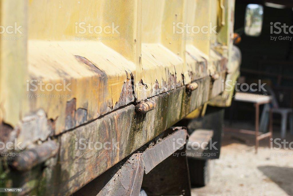 yellow sand truck royalty-free stock photo