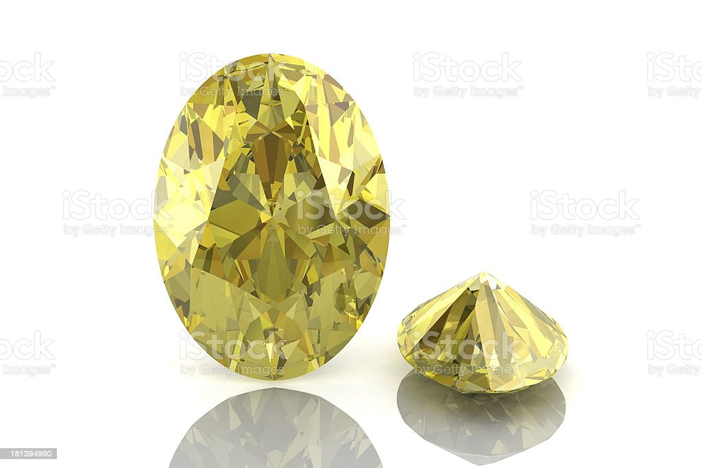 yellow sapphire royalty-free stock photo