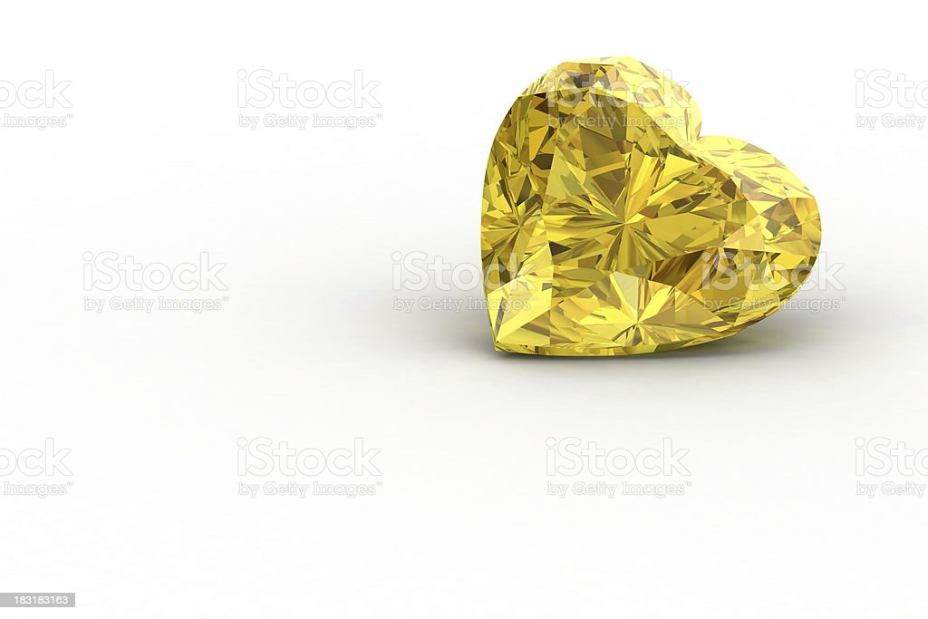 yellow sapphire royalty-free stock photo