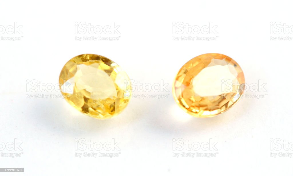 Yellow Sapphires royalty-free stock photo