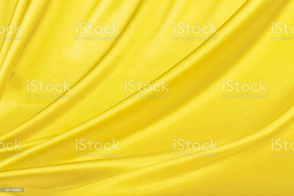 Yellow Satin Background stock photo