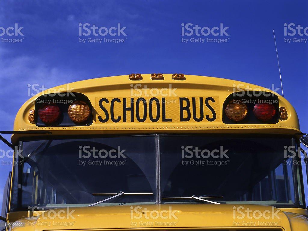 Yellow schoolbus royalty-free stock photo