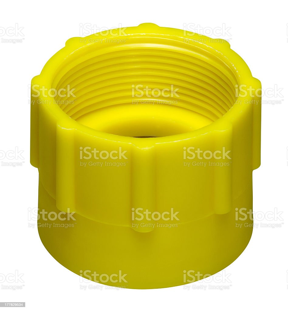 yellow screw cap royalty-free stock photo