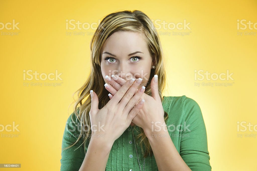 Yellow series - giggle stock photo