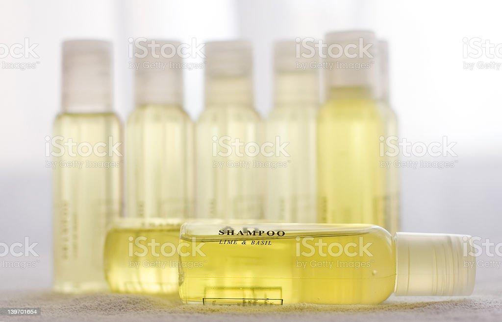 Yellow shampoo royalty-free stock photo