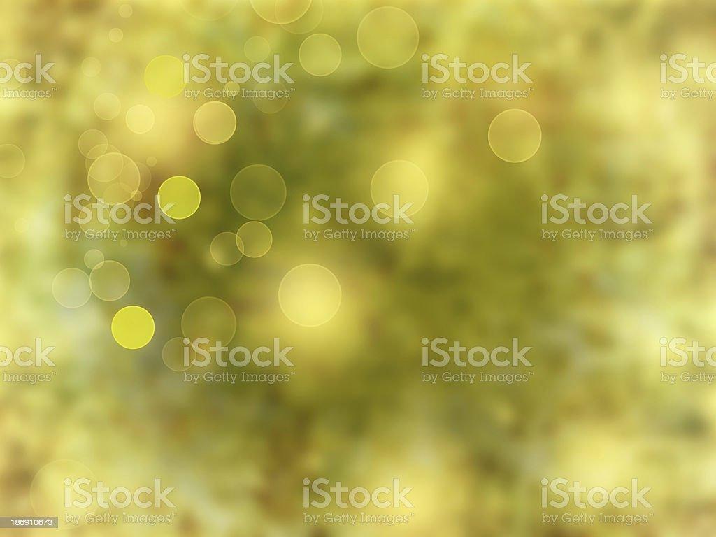 Yellow shiny lights, holiday sparkling background royalty-free stock photo