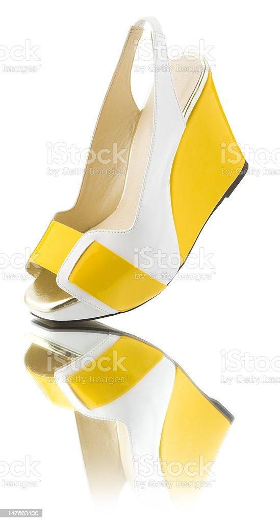 Yellow shoe royalty-free stock photo