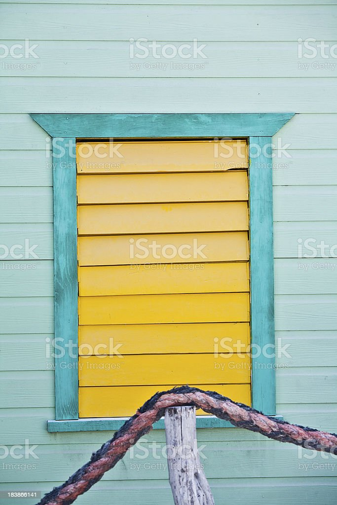 Yellow Shutters royalty-free stock photo
