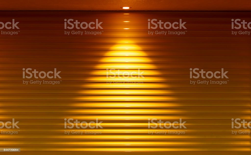 Yellow Shutters stock photo