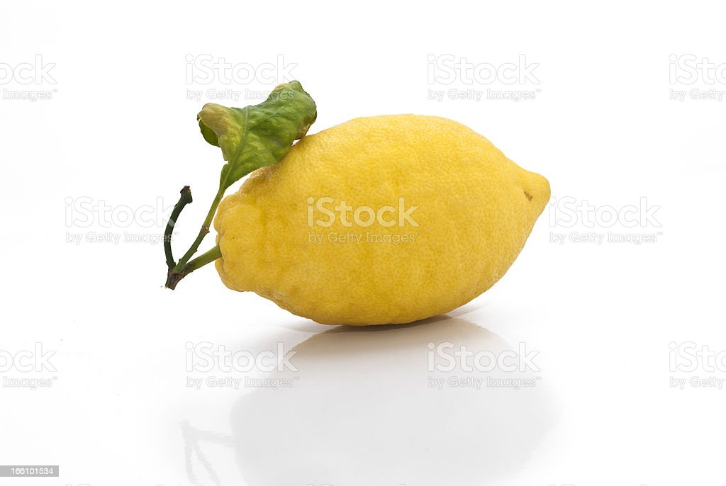 yellow sicilian fresh lemon stock photo